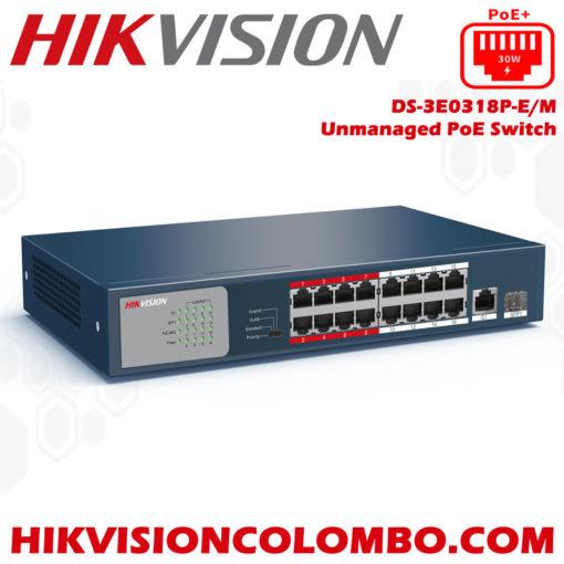 DS-3E0318P-EM-sri lanka hikvision poe switch