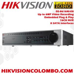 Hikvision-DS-8616NI-E8-Embedded-Plug-&-Play-16-channel-NVR-Network-Video-Recorder-Sale-in-Sri-Lanka-best-srilanka