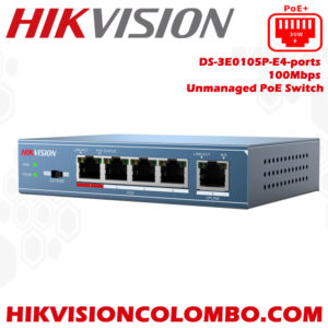 DS-3E0105P-E4-ports poe switchers sri lanka sale colombo hikvision