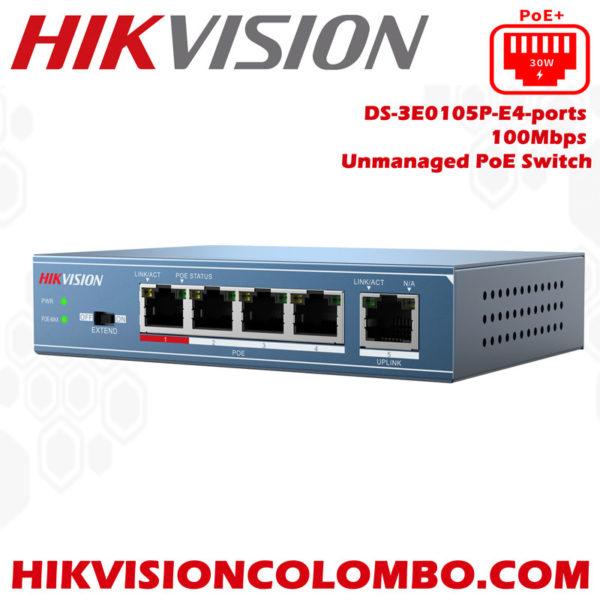 DS-3E0105P-E4-ports poe switchers sri lanka sale colombo hikvision