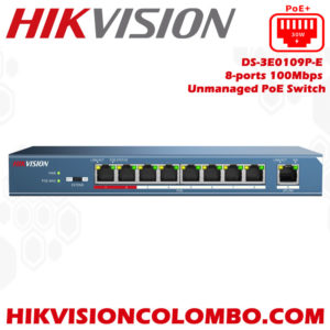 DS-3E0109P-E hikvision poe swith sri lanka dealer