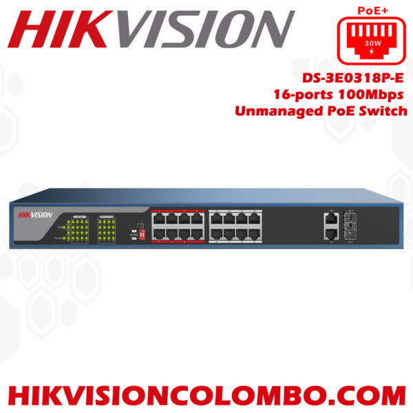 DS-3E0318P-E16-ports-100Mbps-Unmanaged-PoE-Switch