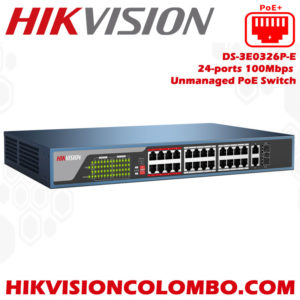 DS-3E0326P-E24-ports-100Mbps-Unmanaged-PoE-Switch