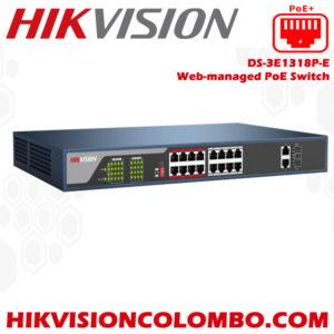 DS-3E1318P-E-Web-managed-PoE-Switch