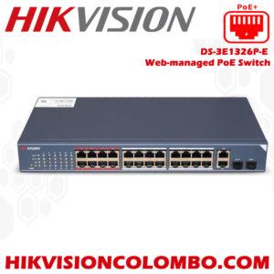DS-3E1326P-E-Web-managed-PoE-Switch