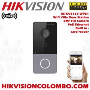Hikvision DS-KV6113-WPE1 Best Wireless Video Door Phone System in Sri Lanka - Best Deals - Best Price Sri Lanka
