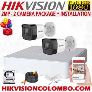 HIKVISION-1080P-2-CAMERA-PACKAGE new version sri lanka