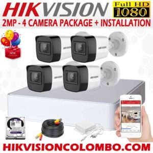 HIKVISION-1080P-4-CAMERA-PACKAGE- sri lanka sale security systems