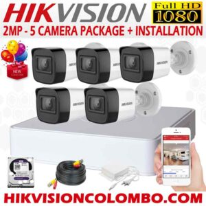 best HIKVISION cctv systems in sri lanka -1080P-5-CAMERA-PACKAGE