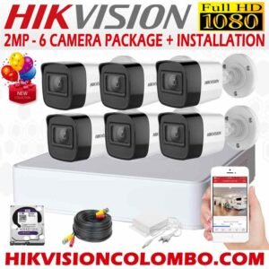the best HIKVISION-1080P-6-CAMERA-PACKAGE with complete installation sri lanka