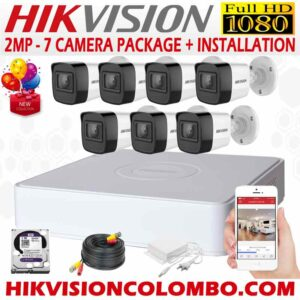 HIKVISION-1080P-7-CAMERA-PACKAGE hikvision CCTV in Sri Lanka - hikvision CCTV price - hikvision -hikvision sri lanka - hikvision ip cctv cameras - hikvision cctv solutions