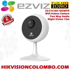 EZVIZ by Hikvision, C1C Wireless Camera for Home,1080p Resolution,Wide Angle View,Night Viewing Upto 12m,Two Way Talk,Supports MicroSD Card Upto 256GB, EZVIZ CS-C1C-D0-1D2WFR, 1080P Full HD, Indoor Wifi CCTV,cctv Camera Sri Lanka Sale , 2 Years Warranty