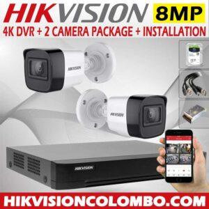 hikvision-4k-DVR-with-8mp-2-cctv-camera--price-with-installation-sri-lanka