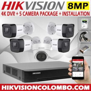 hikvision-4k-DVR-with-8mp-5-cctv-camera--price-with-installation-sri-lanka