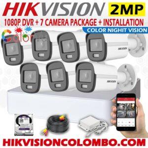 HIKVISION 1080P HD Full-Time Colour 7 Outdoor Camera System Sale Sri Lanka