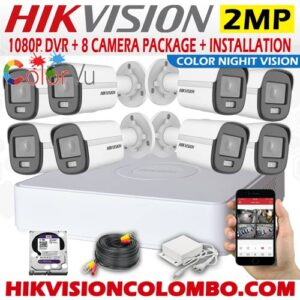 Hikvision 2MP Full-Time Color Night Vision Security Camera with Installation Sri Lanka